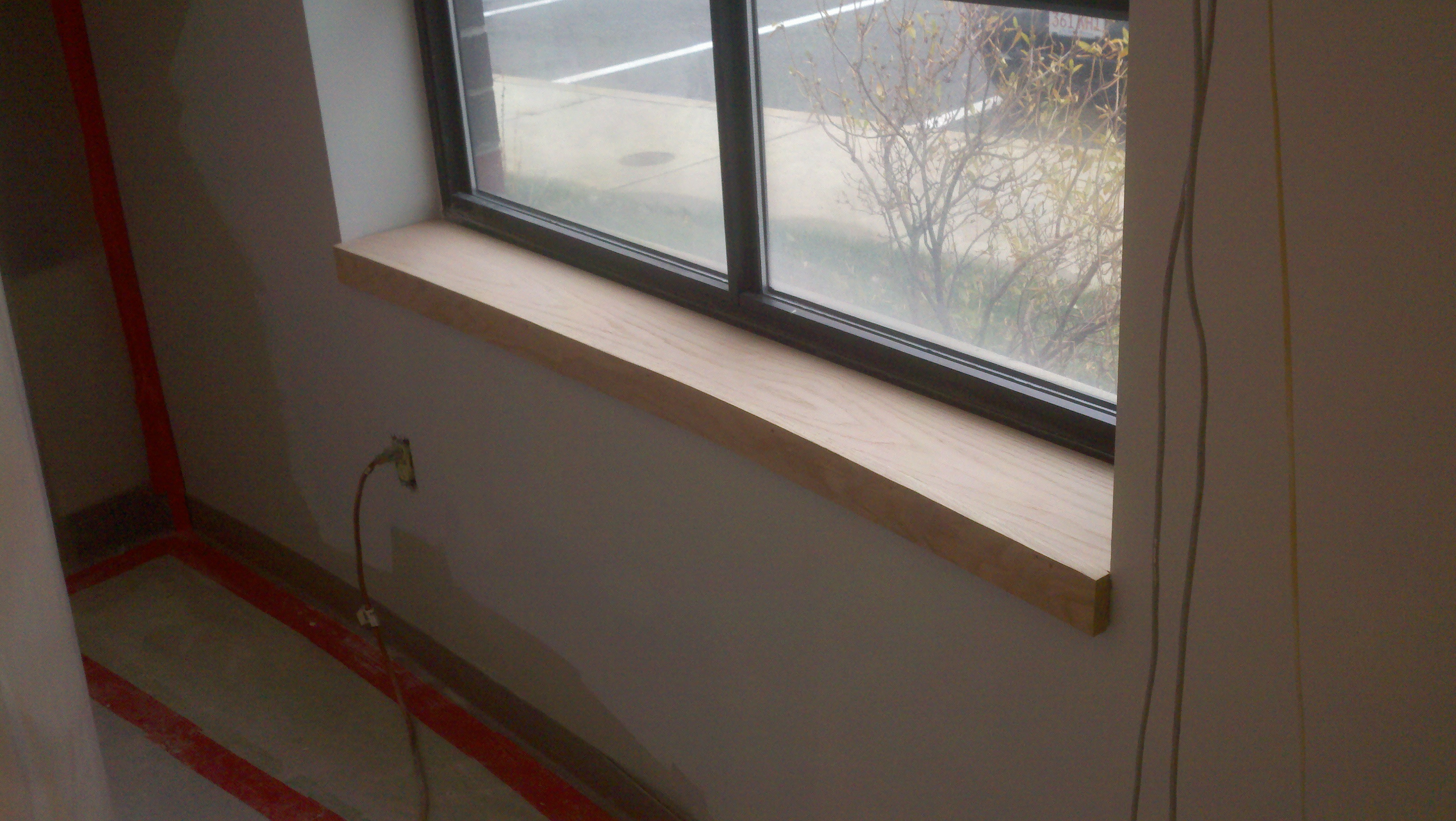 Custom Oak Window Sill | Northeast Custom Carpentry ...