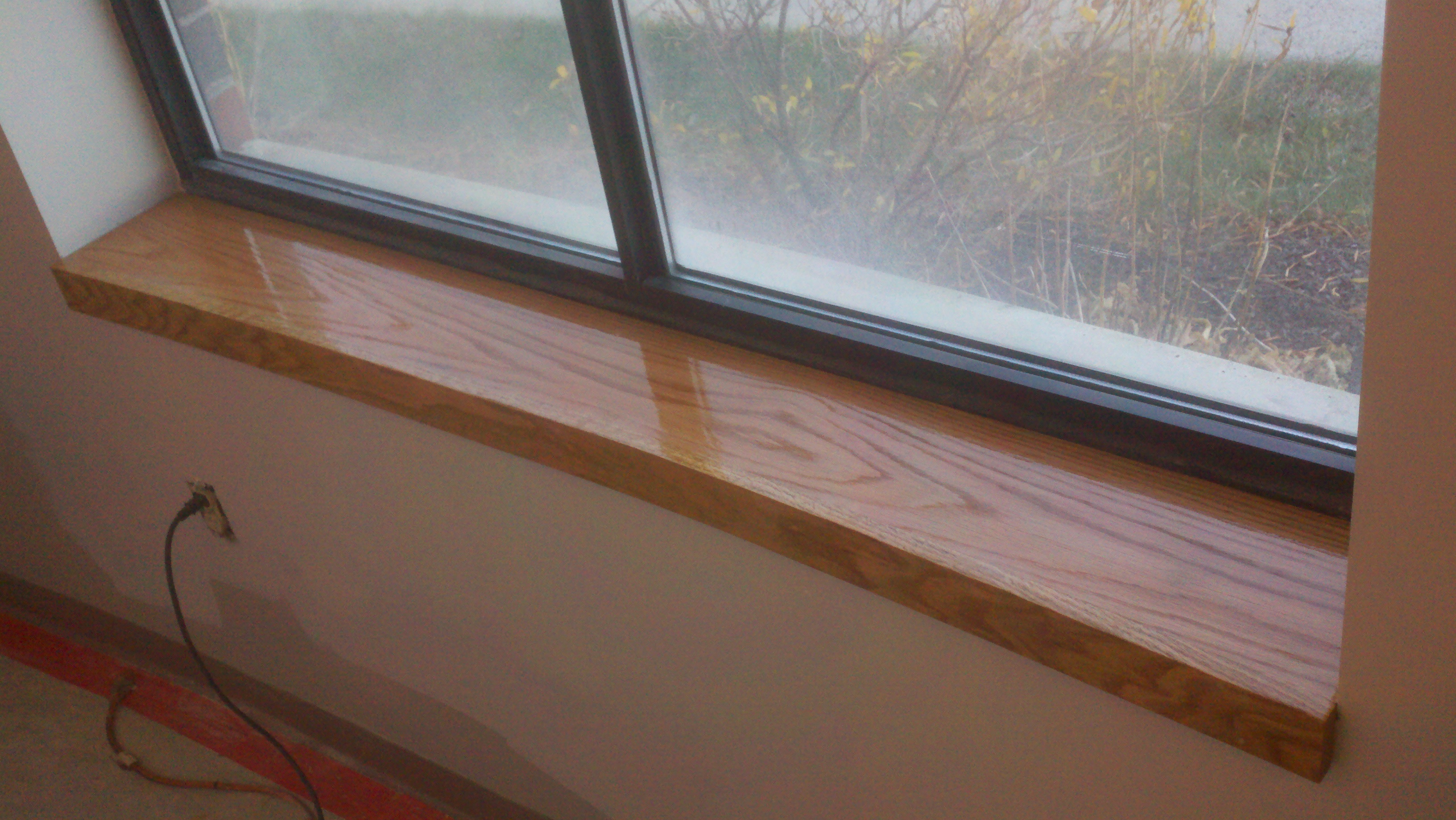 Custom Oak Window Sill Northeast Custom Carpentry